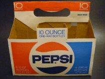 ★70'sペプシコーラ厚紙製6本用ボトルキャリーケース未使用