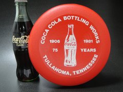 ★80'sアメリカ・テネシー州コカ・コーラ75周年記念フリスビー