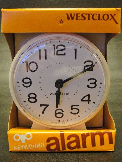★80'sアメリカ製WESTCLOX社手巻き式目覚し時計BINGO