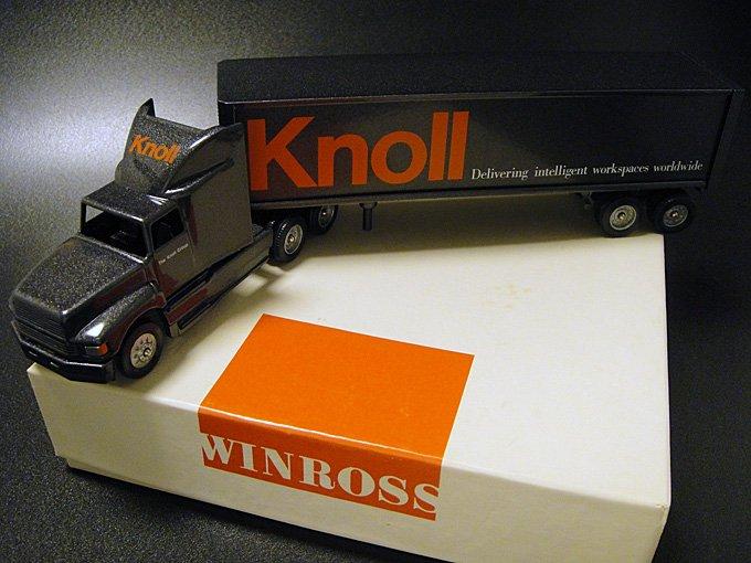 【送料無料】★90'sアメリカ家具Knollノール社ウィンロス社製ミニチュアトラックトレーラー