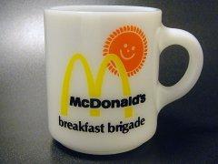 ★70'sへーゼルアトラス製ブレックファーストブリゲイド・マクドナルドマグカップ