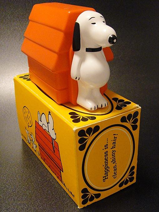 【ワケあり】★OUTLET!?70'sエイボンAVONスヌーピー&ドッグハウス シャンプーボトル箱付