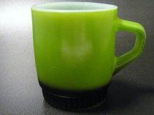 ★70'sファイヤーキング製リブボトムマグ緑×黒