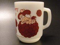★80'sアメリカ製アンカーホッキング・ストロベリーショートケーキ・ラズベリータルトマグカップ