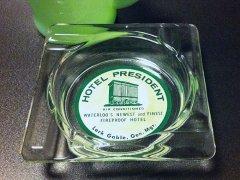 ★60'sアメリカ ホテル・プレジデント ガラス製灰皿