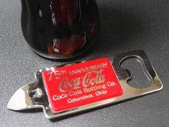 ★80'sアメリカオハイオ州コカ・コーラ75周年記念栓抜き&缶穴開け未使用