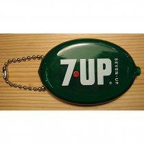 ★セブン・アップ7-UPコインケース キーチェーン ラバー製70'sスタイル