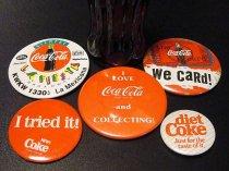 ★70〜90'sコカ・コーラ缶バッジ5種類セット