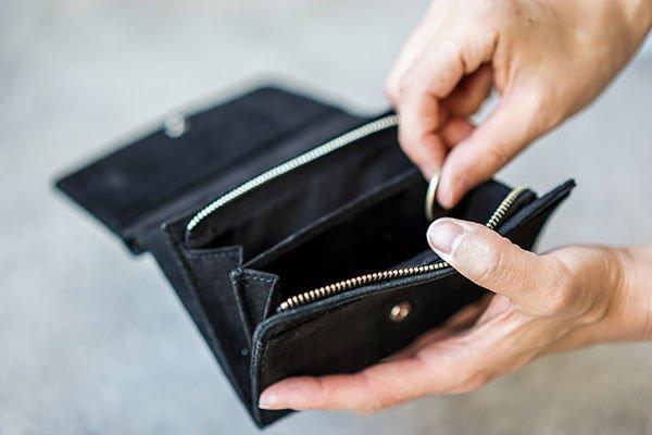 REN (レン) スモーク・L型ウォレット black 使いやすい小銭入れ