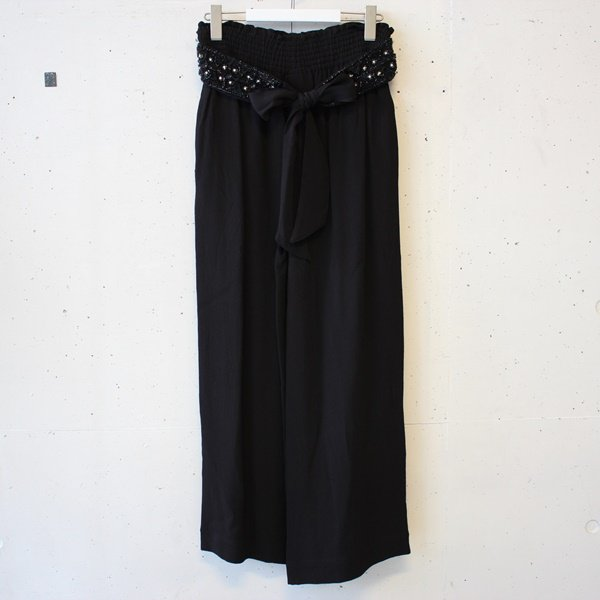 ne Quittez pas (ヌキテパ)Rayon Crape Bijoux Belt Pants<img class='new_mark_img2' src='https://img.shop-pro.jp/img/new/icons37.gif' style='border:none;display:inline;margin:0px;padding:0px;width:auto;' />