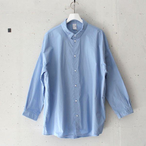 NO CONTROL AIR (ノーコントロールエアー)コーマコットン高密ツイルスモールカラーシャツ ブルー