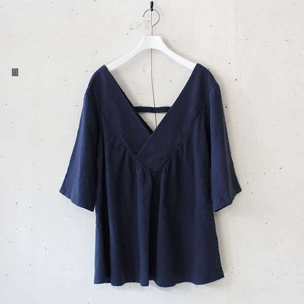 R JUBILEE(アール ジュビリー) Stripe V-neck Pullover Navy<img class='new_mark_img2' src='https://img.shop-pro.jp/img/new/icons37.gif' style='border:none;display:inline;margin:0px;padding:0px;width:auto;' />