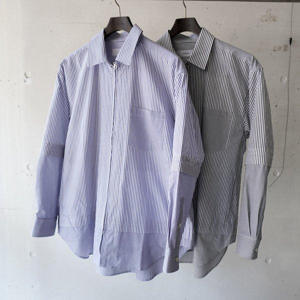 La Barba(ラバルバ) Mix Stripe Shirt(ミックスストライプ シャツ)