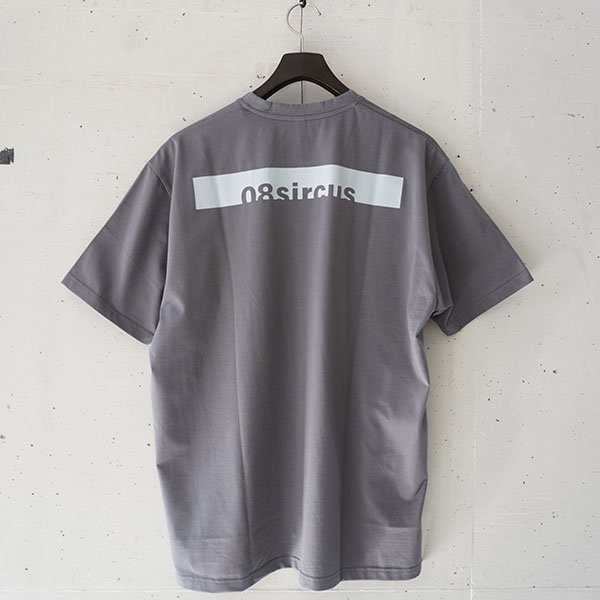 08sircus (08サーカス)Compact plated jersey oversize tee (dark gray)