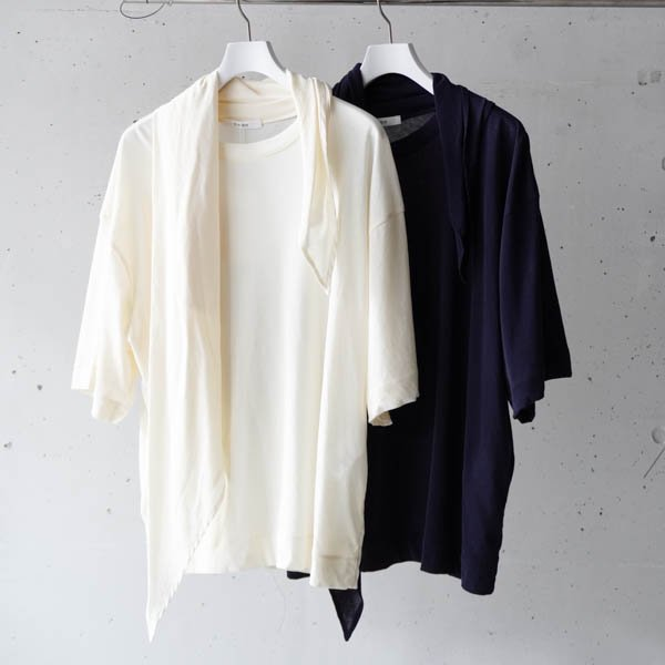 CINOH(チノ)HARD TWIST JERSEY SCARF T-SHIRT