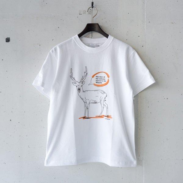 La Barba(ラバルバ)   Print T-shirt(秋の鹿は笛に寄る)