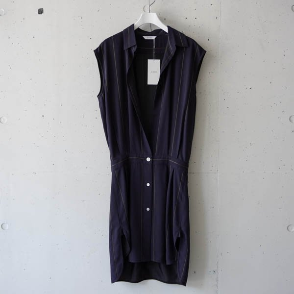 CINOH(チノ) STRIPE BROWSING SLEEVELESS SHIRT