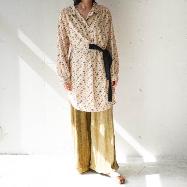 GHOSPELL (ゴスペル) Lenten Rose Wrap Shirt Dress