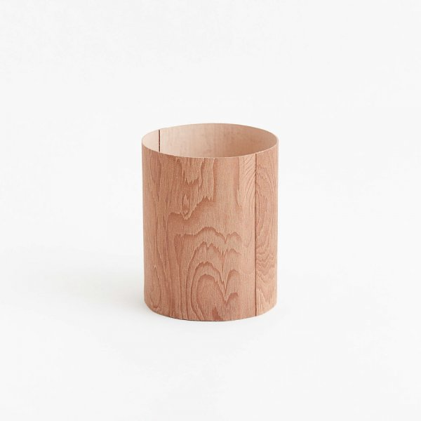 irose (イロセ) plywood leather trash basket