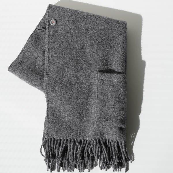 KLIPPAN(クリッパン) ストール ベーシックウール ダークグレー(2ポケット)