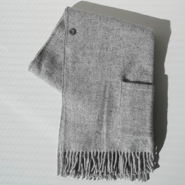 KLIPPAN(クリッパン) ストール ベーシックウール ライトグレー(2ポケット)