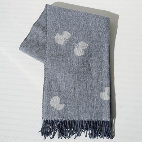 KLIPPAN(クリッパン) ストール CHOUCHO ホワイト/ブルーグレー(ポケットなし)