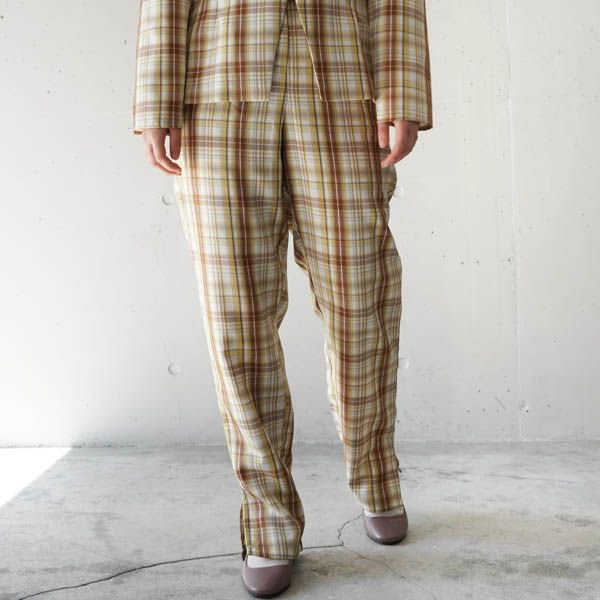 GHOSPELL (ゴスペル) Narrative Check Tailored Trousers