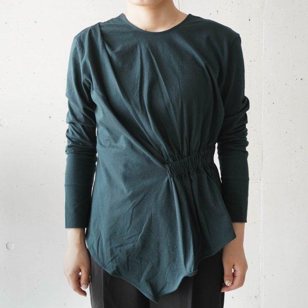 OUD(ウード) Asymmetry gather T-shirt