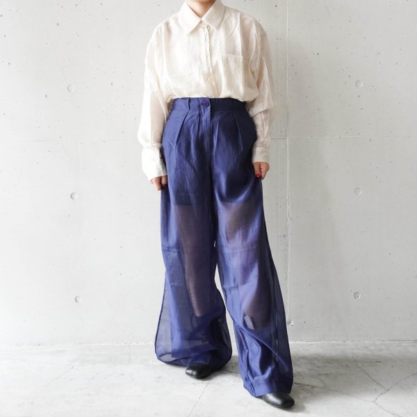 GHOSPELL (ゴスペル) Strategy Sheer Wide Leg Trousers
