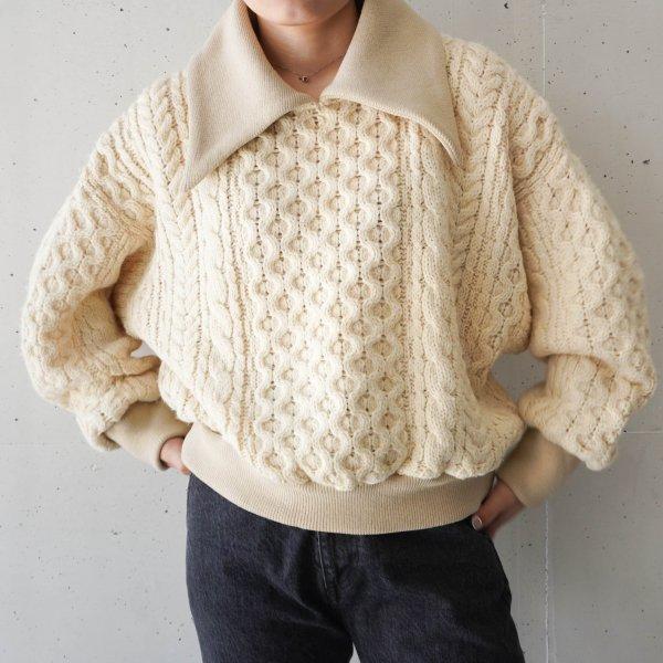 <img class='new_mark_img1' src='https://img.shop-pro.jp/img/new/icons9.gif' style='border:none;display:inline;margin:0px;padding:0px;width:auto;' />77circa (ナナナナサーカ) circa make big collar fisherman sweater