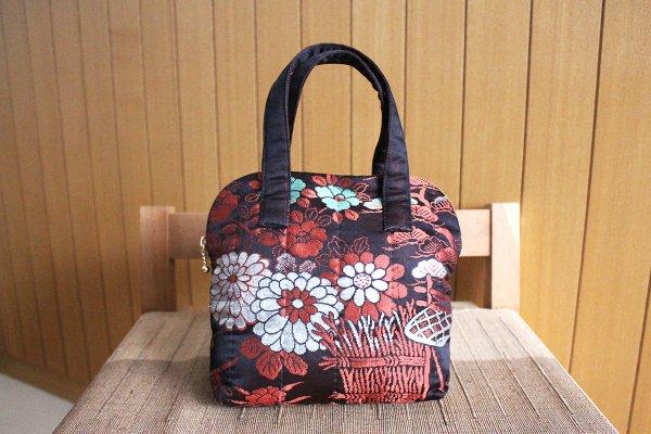臙脂帯地小型バッグ