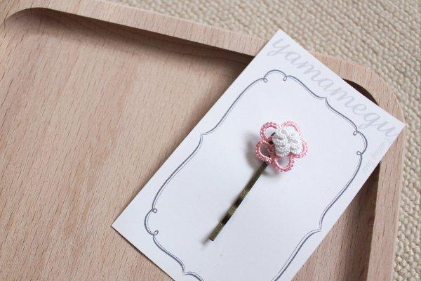 お花のヘアピン(ピンク)
