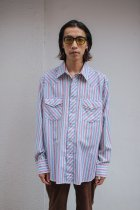 USED / L/S shirts -stripe-
