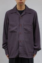South2 West8 / One-up Shirt - Poly Crepe Cloth purple