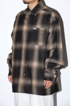 IMPORT / OMBRE CHECK L/S SHIRTS - brown/khaki