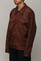 Monitaly / Trucker Jacket - brown