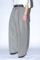 <font color=#FF0000>【40%OFFクーポン対象】</font>superNova. / High waist baggy trouser - C/L Check