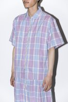 STORY mfg / Beach Shirts - Lilac Story Check