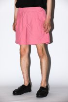 BURLAP OUTFITTER / TRACK SHORT -greysh pink-