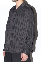 superNova. / Big shirt jacket - Jacquard -stripe-