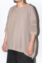O project / SS WIDE FIT TEE JERSEY MESH light brown
