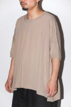 O project /  WIDE FIT TEE light brown