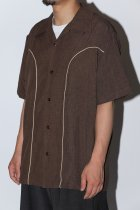 <font color=#FF0000>【40%OFFクーポン対象】</font>Steady Clothing / s/s shirts -brown- 200924