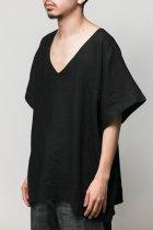 <font color=#FF0000>【50%OFFクーポン対象】</font>Badhiya / Vneck pullover-linen- black 200924