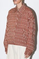 Badhiya / ZIP BLOUSON - ikat - brown