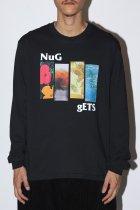 "NuGgETS / ""4 Flower""L/S tee -black-"