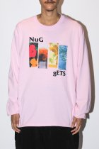 "NuGgETS / ""4 Flower""L/S tee -light pink-"