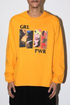 "NuGgETS / ""GRL PWR""L/S tee -gold-"