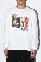 "NuGgETS / ""GRL PWR""L/S tee -white-"