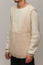 MAYDI / V-NECK VEST - natural